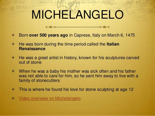 Image result for michelangelo is born