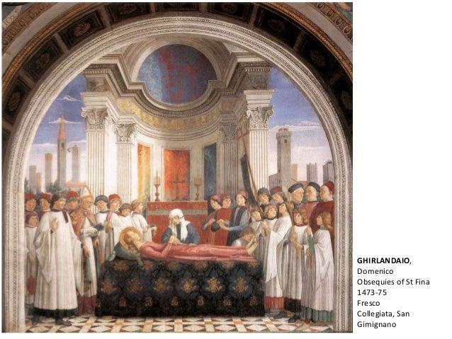 GHIRLANDAIO, Domenico Obsequies of St Fina 1473-75 Fresco Collegiata, San Gimignano