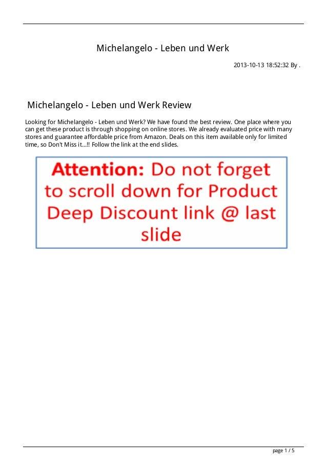 Michelangelo - Leben und Werk 2013-10-13 18:52:32 By .  Michelangelo - Leben und Werk Review Looking for Michelangelo - Le...