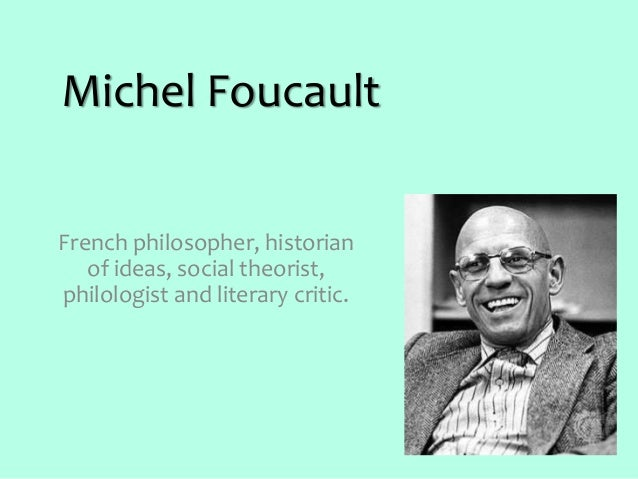 a comparison of michel foucault and lao tzu two philosophers