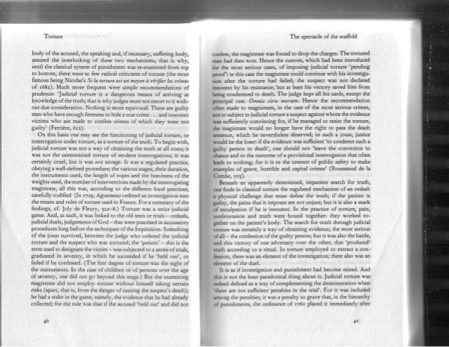 foucault discipline and punish Michel foucault (1926 – 1986) part five discipline and punish the birth of the prison (1975) the opening pages of discipline and punish by michel foucault were one of the best.