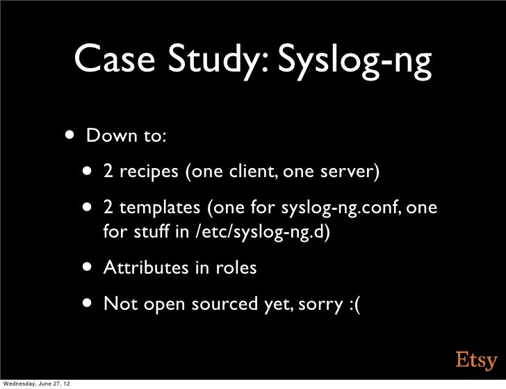 Michelin starred cooking with chef presentation for Syslog ng template example