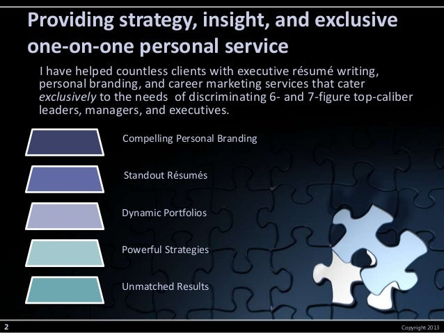 executive resume writing services from michelle dumas