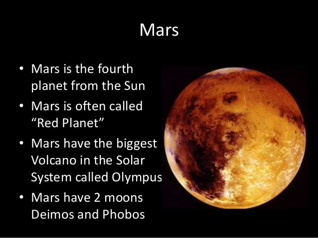 a description of mars as the fourth planet from the sun