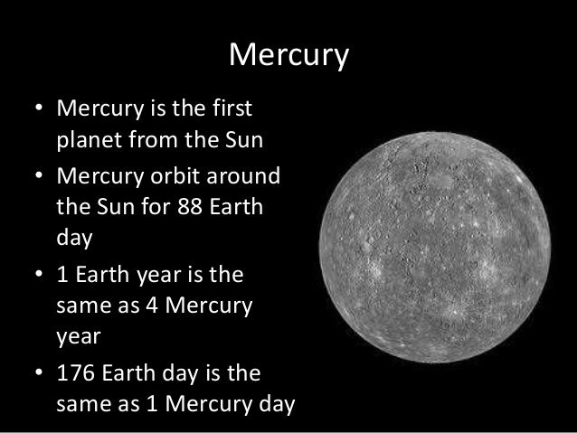 mercury planet comparison chart - photo #16