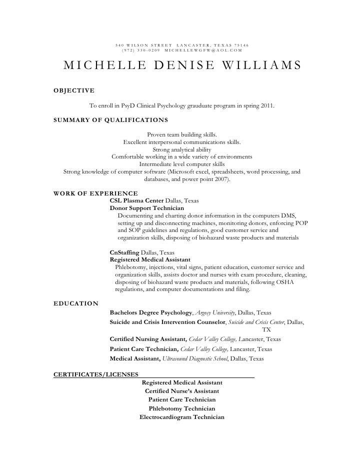 School Psychology Resume