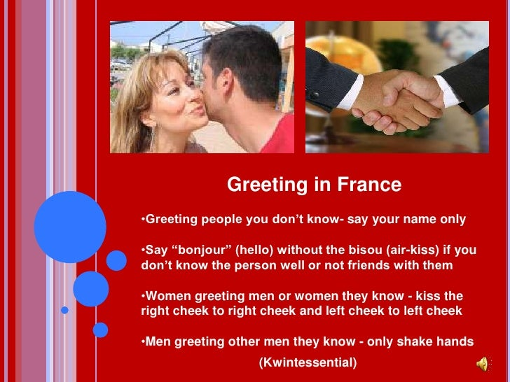 The culture of france greeting in francebr m4hsunfo