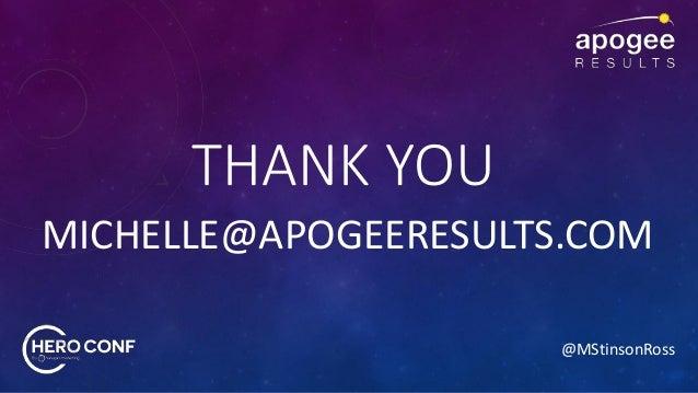 @MStinsonRoss THANK YOU MICHELLE@APOGEERESULTS.COM