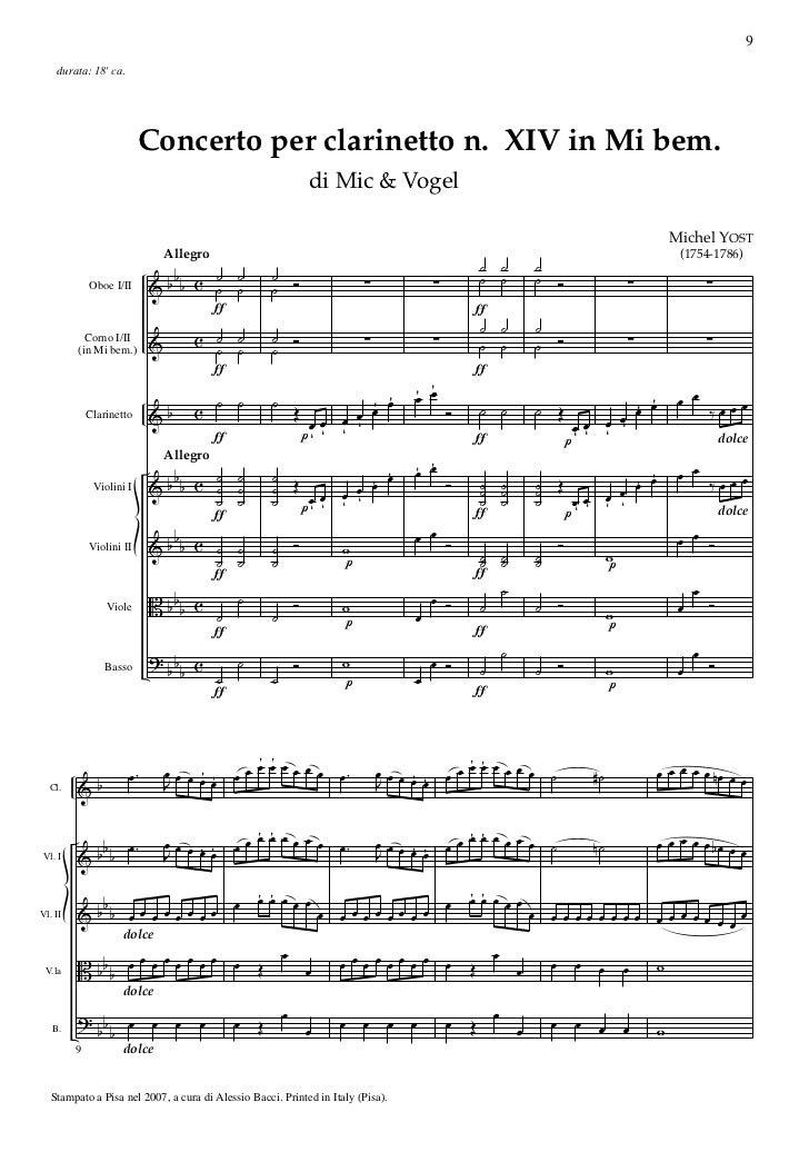 9    durata: 18 ca.                          Concerto per clarinetto n. XIV in Mi bem.                                    ...