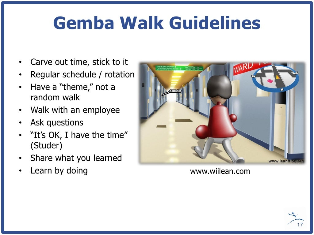 Gemba walk agipeadosencolombia gemba walk guidelines carve pronofoot35fo Choice Image