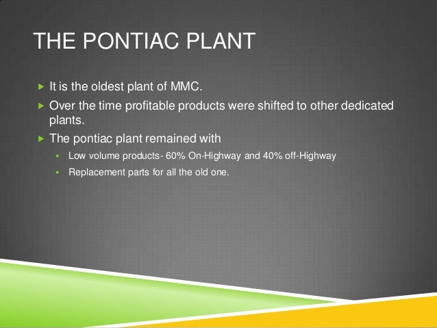 Michigan Manufacturing Corp.: The Pontiac Plant–1988 Case Solution & Analysis