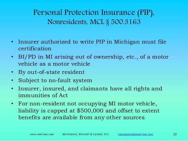 Michigan no fault fundamentals for claims professionals for Florida motor vehicle no fault law