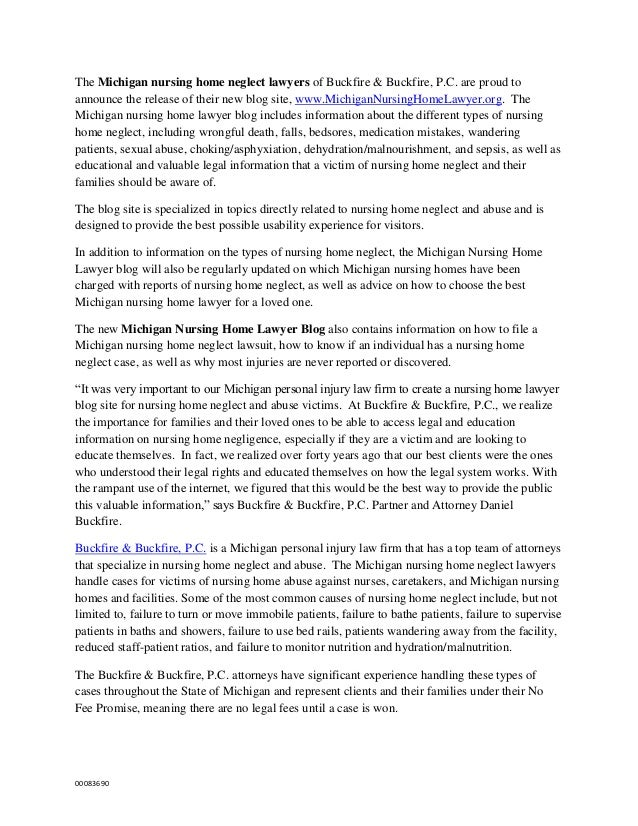 The Michigan nursing home neglect lawyers of Buckfire & Buckfire, P.C. are proud toannounce the release of their new blog ...