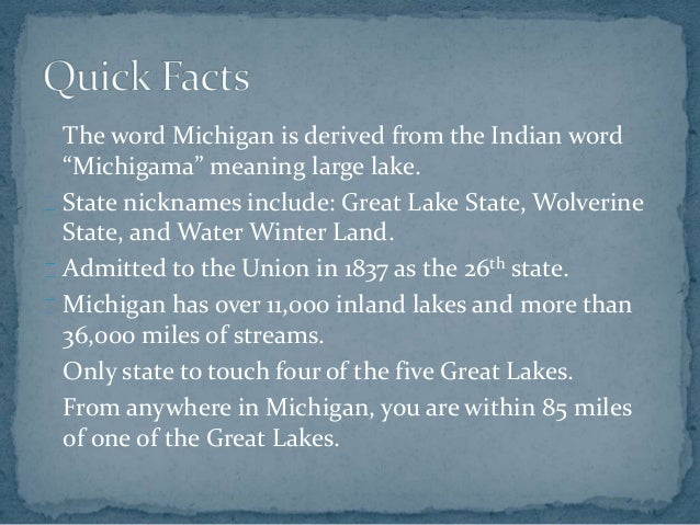 An introduction to the geography of lake michigan