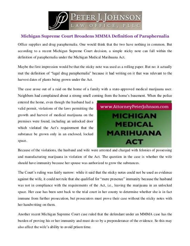 Michigan Supreme Court Broadens MMMA Definition of