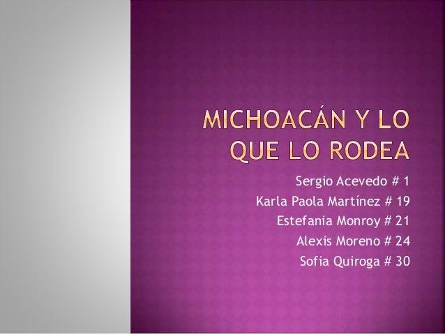 Sergio Acevedo # 1 Karla Paola Martínez # 19 Estefania Monroy # 21 Alexis Moreno # 24 Sofia Quiroga # 30