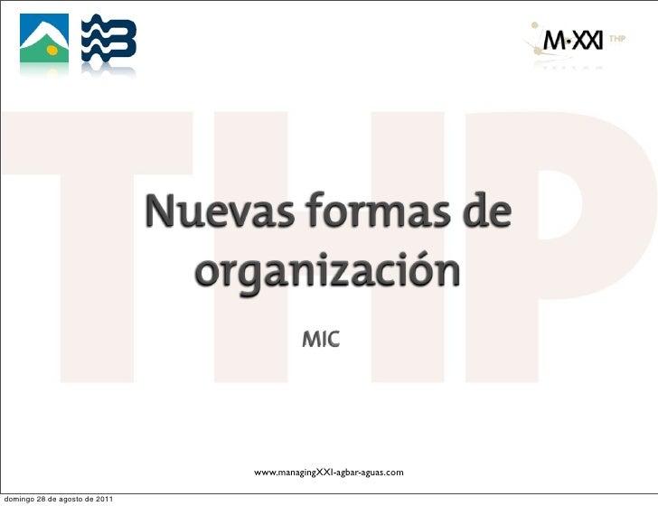 Nuevas formas de                                 organización                                             MIC             ...