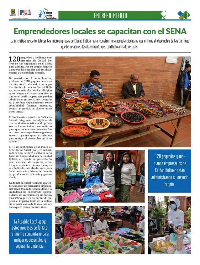 13CIUDAD BOLÍVAR Una oportunidad para construir con sentido humano GOBIERNO, SEGURIDAD Y CONVIVENCIA Periódico Institucion...