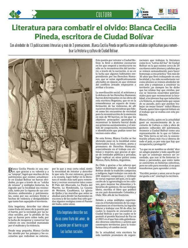 14 Una oportunidad para c GOBIERNO, SEGURIDAD Y CONVIVENCIA Periódico Institucional / Junio - Julio 2015 / Bogo Con alrede...
