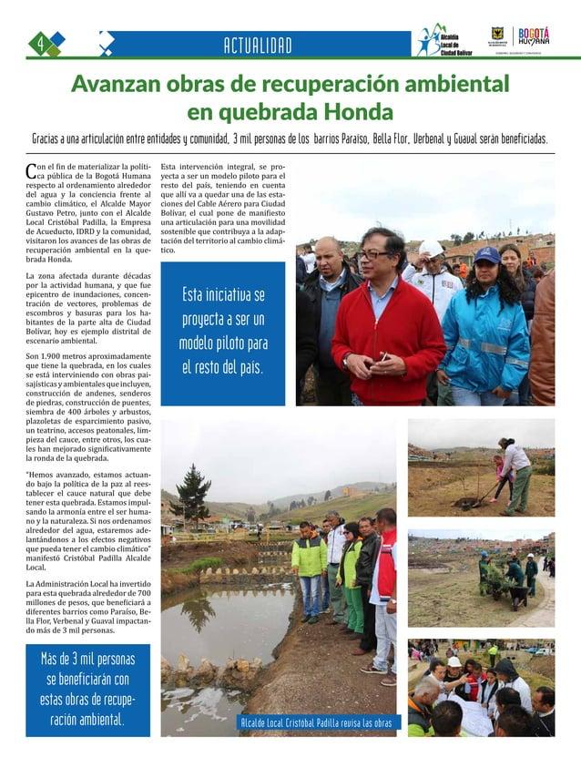 4 Una oportunidad para c GOBIERNO, SEGURIDAD Y CONVIVENCIA Periódico Institucional / Junio - Julio 2015 / Bogo ACTUALIDAD ...