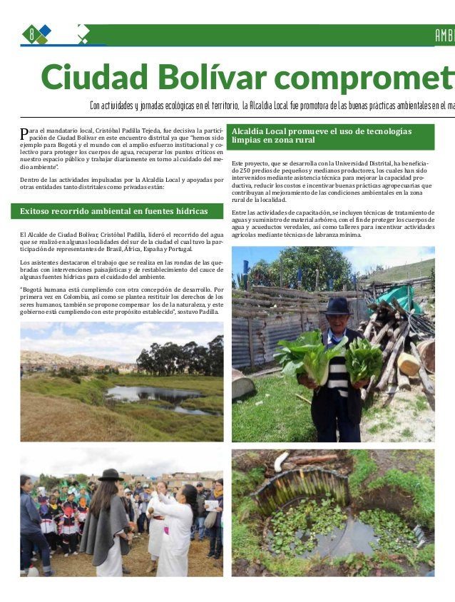 8 Una oportunidad para c GOBIERNO, SEGURIDAD Y CONVIVENCIA Periódico Institucional / Junio - Julio 2015 / Bogo Con activid...