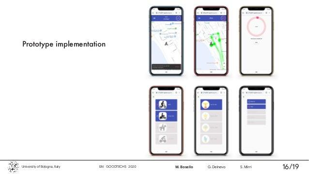 Prototype implementation University of Bologna, Italy EAI GOODTECHS 2020 M. Bosello G. Delnevo S. Mirri 16/19
