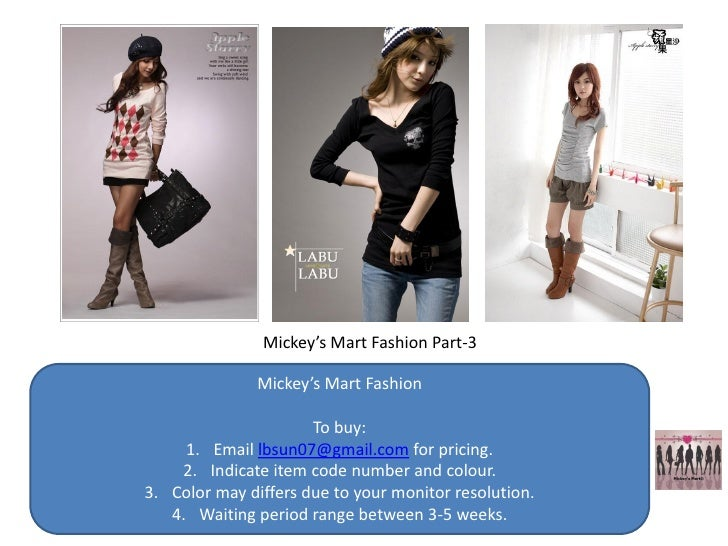 Mickey's Mart Fashion Part-3                 Mickey's Mart Fashion                        To buy:      1. Email lbsun07@gm...