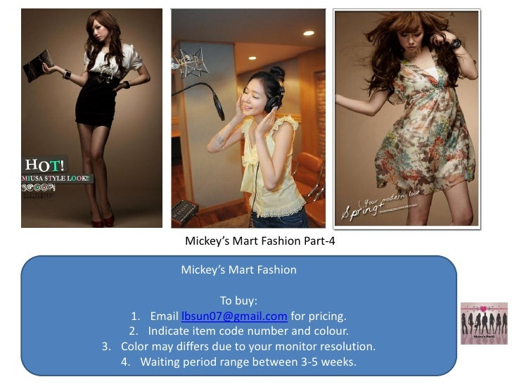 Mickey's Mart Fashion Part-4                 Mickey's Mart Fashion                        To buy:      1. Email lbsun07@gm...