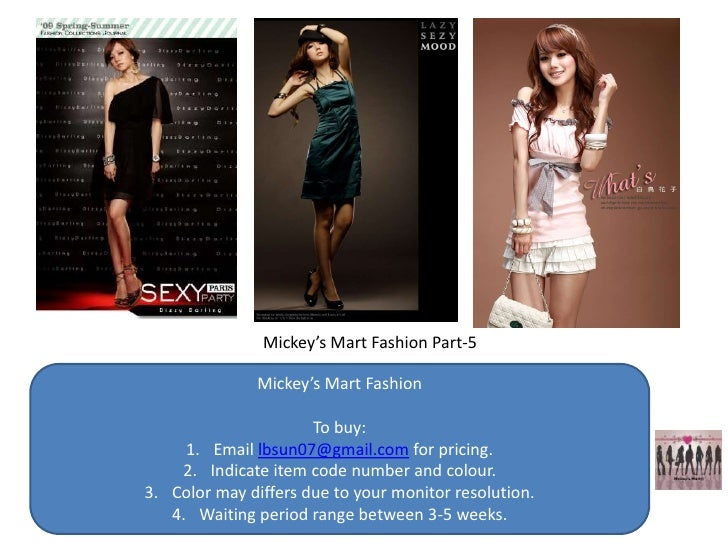 Mickey's Mart Fashion Part-5                 Mickey's Mart Fashion                        To buy:      1. Email lbsun07@gm...