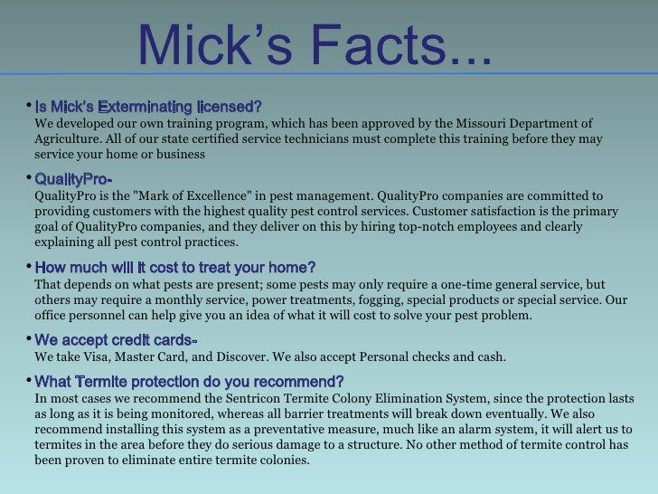 Mick S Exterminating