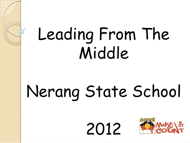 Leading From The Middle Nerang State School 2012