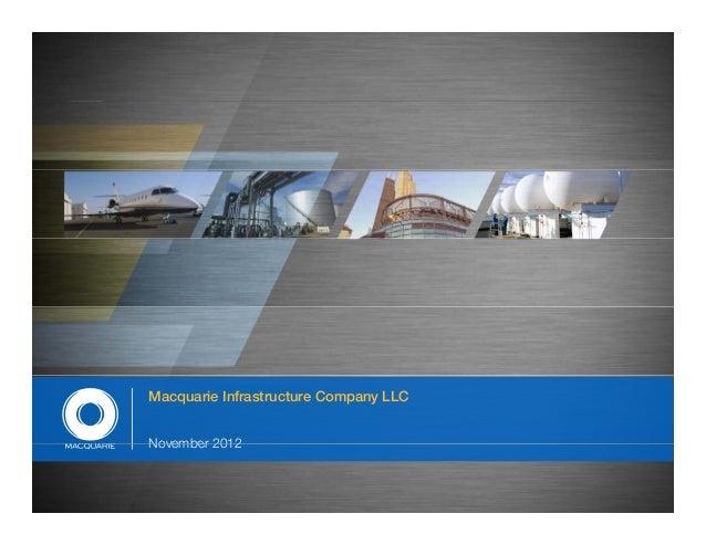 Macquarie Infrastructure Company LLCNovember 2012