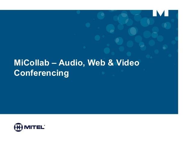 MiCollab – Audio, Web & Video Conferencing