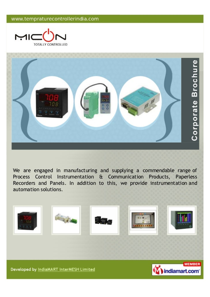 We are engaged in manufacturing and supplying a commendable range ofProcess Control Instrumentation & Communication Produc...