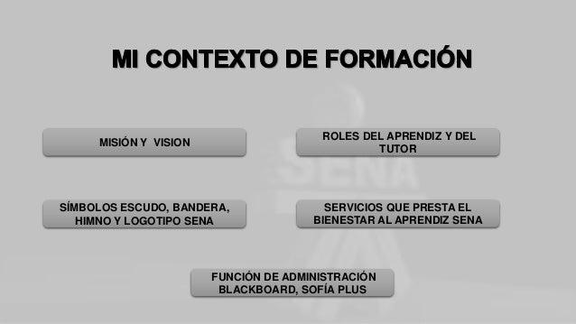 MISIÓN Y VISION SÍMBOLOS ESCUDO, BANDERA, HIMNO Y LOGOTIPO SENA FUNCIÓN DE ADMINISTRACIÓN BLACKBOARD, SOFÍA PLUS SERVICIOS...