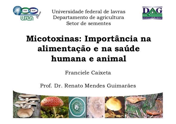 Universidade federal de lavras      Departamento de agricultura        p                g           Setor de sementesMicot...