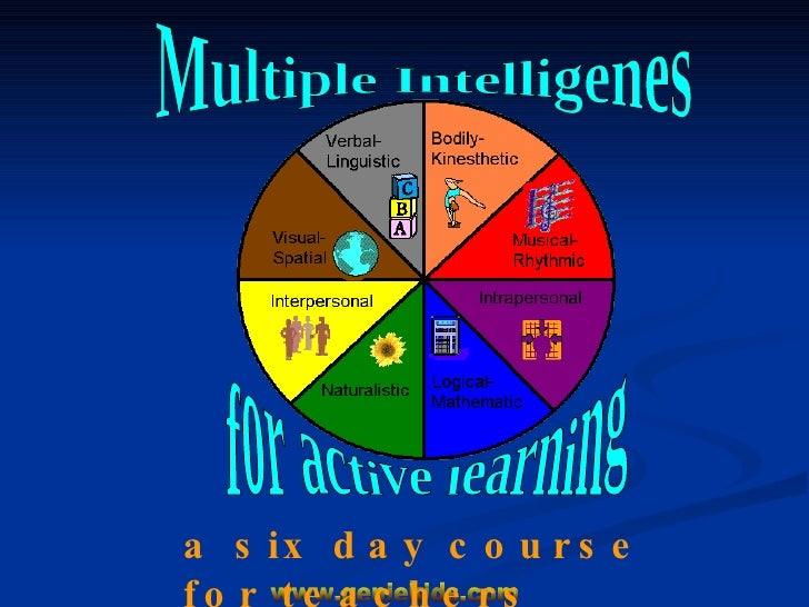 Multiple Intelligenes for active learning a six day course for teachers
