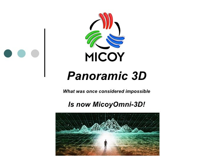 Panoramic 3D What was once considered impossible Is now MicoyOmni-3D!