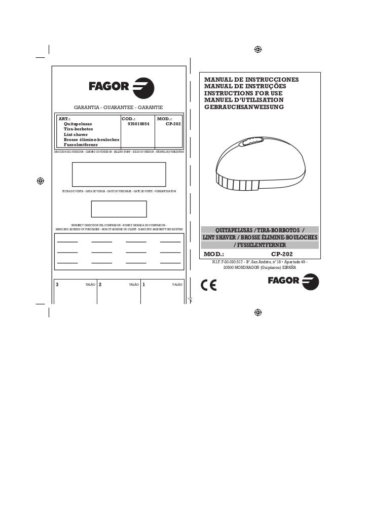 Mi cp 202 servicio tecnico fagor for Servicio tecnico fagor granada