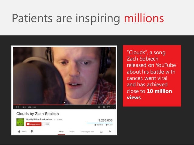 """""""Clouds"""", a song Zach Sobiech released on YouTube about his battle with cancer, went viral and has achieved close to 10 mi..."""
