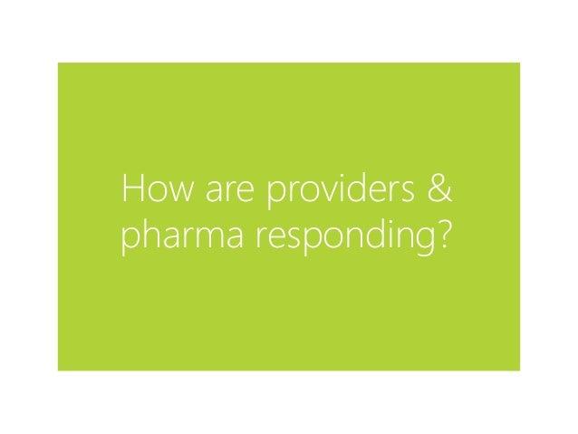 How are providers & pharma responding?