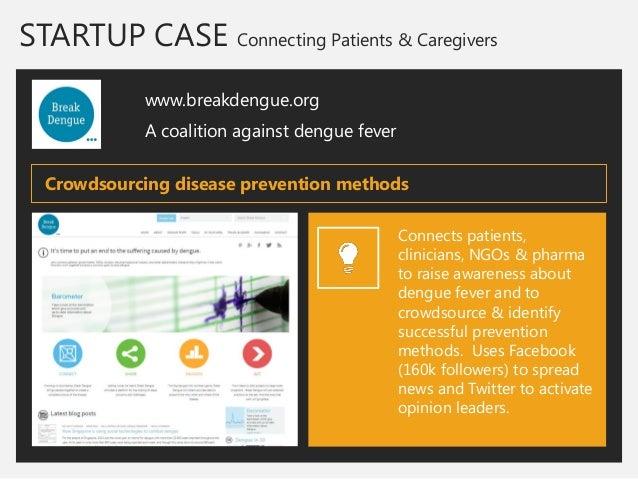 STARTUP CASE Connecting Patients & Caregivers  www.breakdengue.org  A coalition against dengue fever  Connects patients, c...