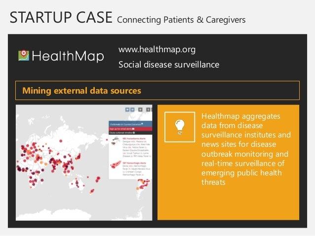 STARTUP CASE Connecting Patients & Caregivers  www.healthmap.org  Social disease surveillance  Healthmap aggregates data f...