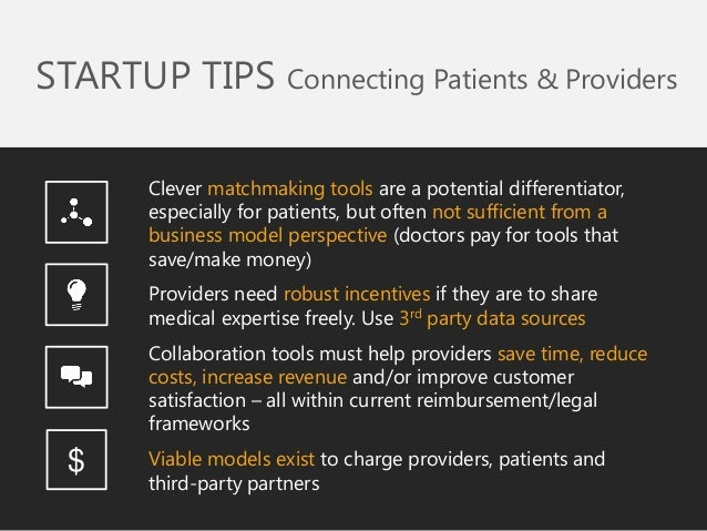 Clever matchmaking tools are a potential differentiator, especially for patients, but often not sufficient from a business...