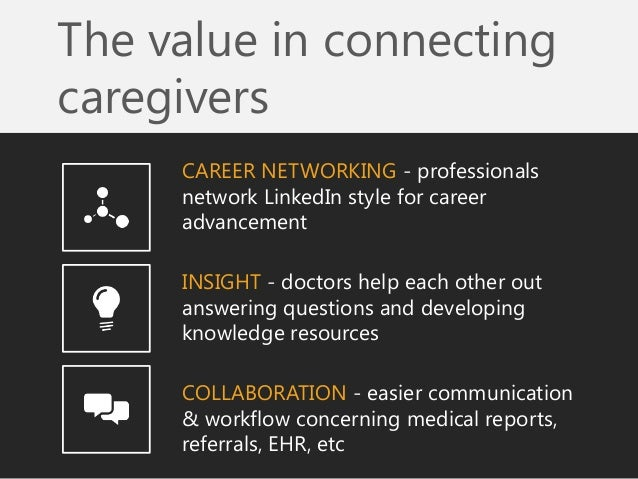 The value in connecting caregivers  CAREER NETWORKING - professionals network LinkedIn style for career advancement  INSIG...