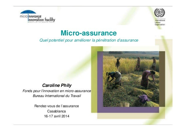 Caroline Phily Fonds pour l'innovation en micro-assurance Bureau International du Travail Rendez-vous de l'assurance Casab...