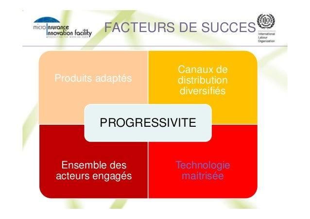 RISK FACTEURS DE SUCCES Produits adaptés Canaux de distribution diversifiés Ensemble des acteurs engagés Technologie maitr...