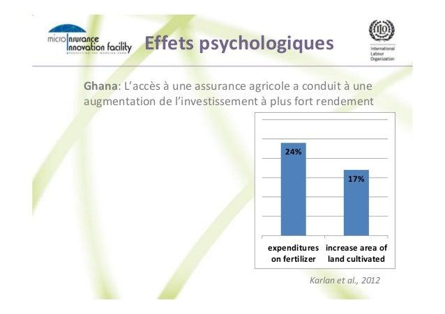 Effets psychologiques Ghana: L'accès à une assurance agricole a conduit à une augmentation de l'investissement à plus fort...