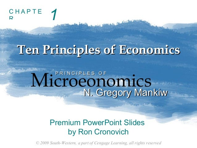Principles of economics (Chapter 1)