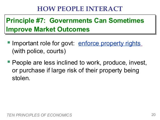 HOW PEOPLE INTERACT Principle #7: Governments Can Sometimes Principle #7: Governments Can Sometimes Improve Market Outcome...